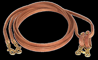 Flat Harness Leather Draw Reins