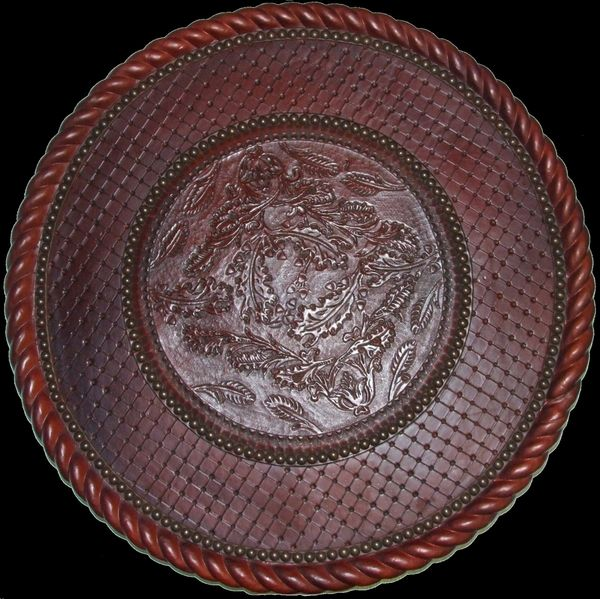 Outback Creations Leather Covered Lazy Susan