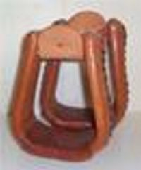 "Leather Covered 3"" Roper Stirrup"