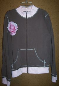 CR Zip Jacket with Rose Screen