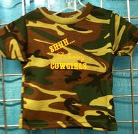 Boys Short Sleeve Camo Tee Shh Hunting Cowgirls