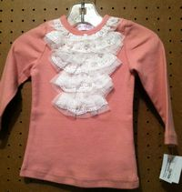 Fab Infant Girls Long Sleeve Top With Lace and Ruffles