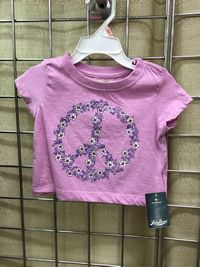 Lucky Crop Short Sleeve Peace Tee