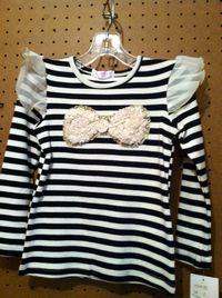 Mae Li Toddler Striped Long Sleeve Top
