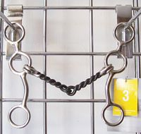 "Metalab Junior Cowhorse 6"" Twisted Snaffle"