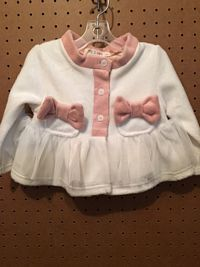 Mae Li Infant Girls Ivory Jacket