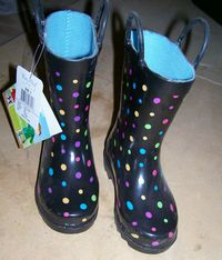 Western Chief Girls Polka Dot Rain Boots